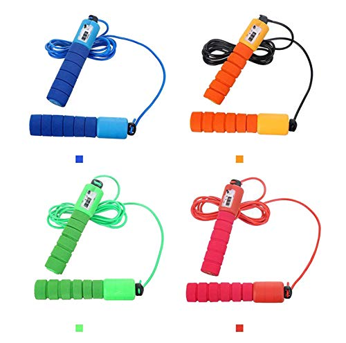 April With You 2.5m Sponge Handle Skipping Counter Crossfit Jumping Rope Workout Fitness Speed   Skipping Rope Gym Exercise Equipment Jump Rope,Orange