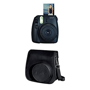 Fujifilm Instax Mini 8 Instant Film Camera + Instax Groovy Camera Case (Black)