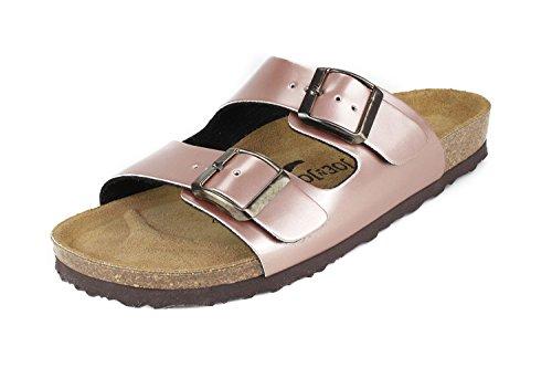 Joe N Joyce Mujer London Soft-footbed Metallic Synsoft Sandalias Zapatillas Narrow Nude