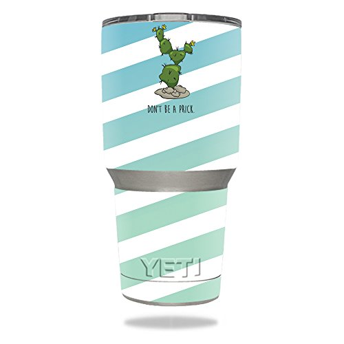MightySkins Skin for Yeti 30 oz Tumbler - Happy Cactus   Protective, Durable, and Unique Vinyl Decal wrap Cover   Easy to Apply, Remove, and Change Styles   Made in The USA