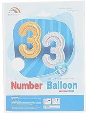Mcolour Balloon Foil Balloon - Number 3, Silver