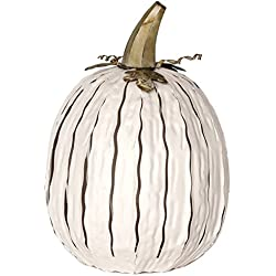 Desert Steel White Pumpkin Lantern – Handcrafted Luminary - Tall