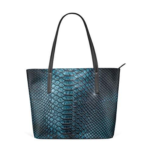 (Laptop Tote Bag Fashion Printed Crocodile Skin Large Printed Shoulder Bags Handbag Pu Leather Top Handle Satchel Purse Lightweight Work Tote Bag For Women)