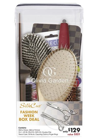 Olivia Garden Silkcut Shear Box - Stylist Shear, Thinner, Clip & Brush Set