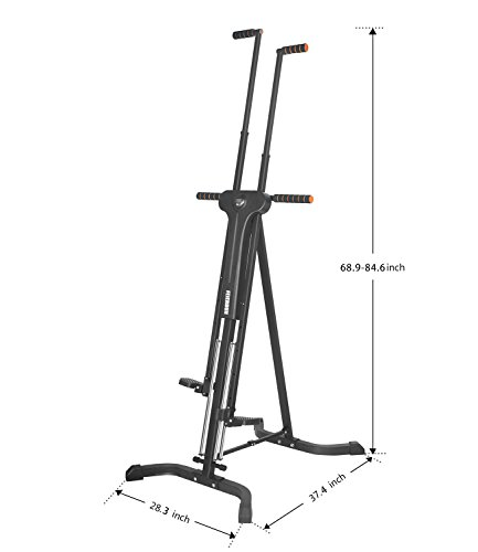 Vertical Climber,FEIERDUM Folding Climbing Machine for Home GYM Equipment Stepper Cardio Step Climber , Total Body Workout Climb Machine