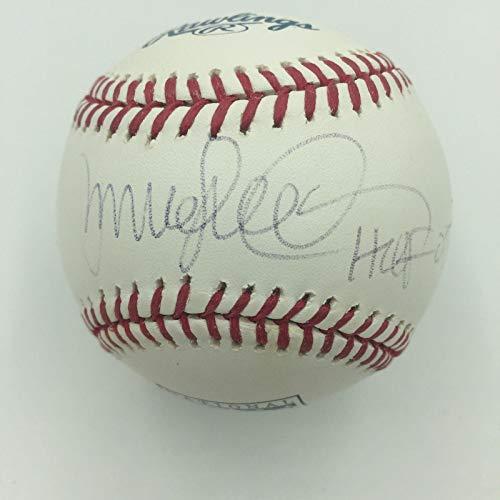 (Signed Ryne Sandberg Baseball - HOF 2005 Official Hall Of Fame COA - JSA Certified - Autographed Baseballs)