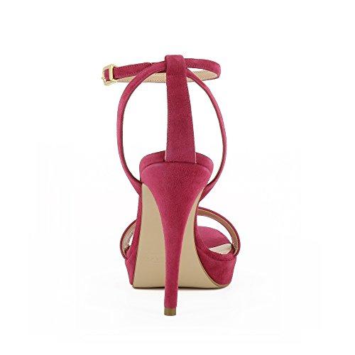Valeria Sandales Daim Rose Femme Shoes Evita Fuchsia q5wxFn1gE