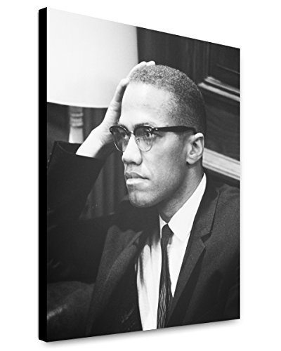 Canvas Print 20x24: Malcolm X Waits At Martin Luther King Press Conference...