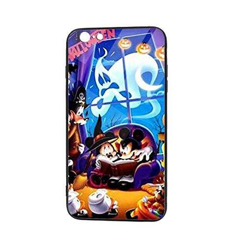 Stylish Halloween Mickey Mouse Family TPU Glass Phone Case Designed for Anti-Scratch Cover Case Compatible with iPhone 6/iPhone 6S]()