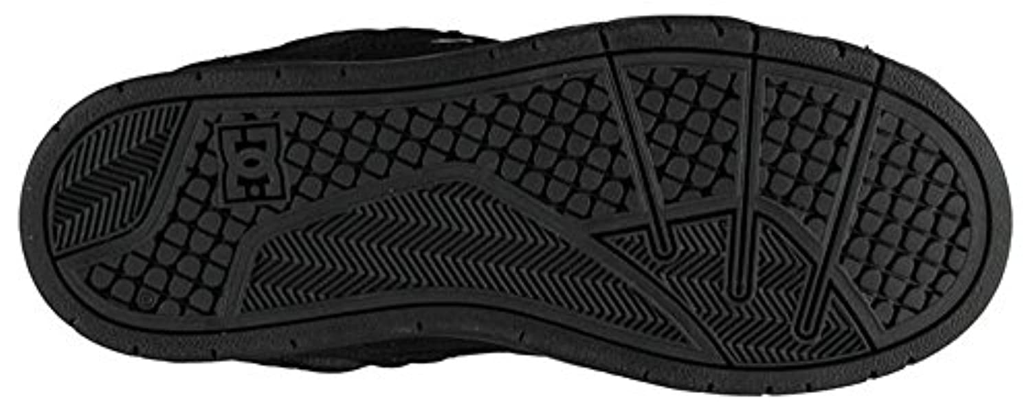 Junior Boys Suede Lace Up Stag Skate Shoes Skateboard Footwear (3 (36), Black)