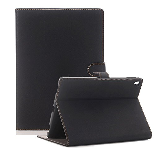 iPad Mini 5 7.9 inch 2019 Stand Case, elecfan PU Leather Magnetic Smart Protective Cover with Auto Sleep/Wake Feature Screen Protective Luxury Book Style Folio Case Stand for 2019 iPad Mini 5, Black