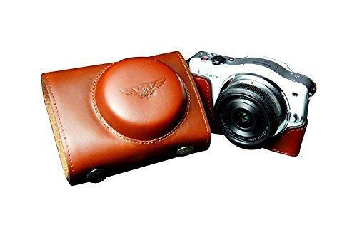 パナソニック LUMIX GF3用本革レンズカバー付カメラケース ブラウン B07TB6J52W レンズカバー付ケース&ストラップTP1881&レンズケース FreeSize