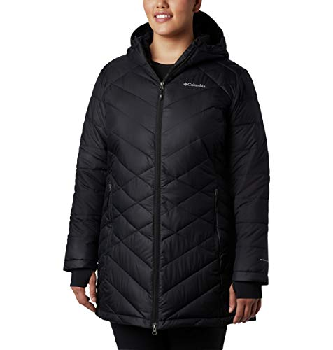Columbia Women's Heavenly Long Hooded Jacket, Black, 2X