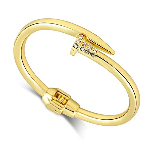 Fashion Nail Bangle Bracelet for Women Girls Gold Plated Punk Style Boy's Bangle