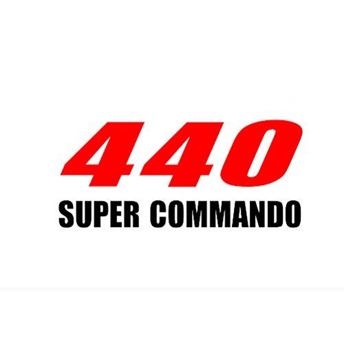 - 2pcs 440 Super Commando Mopar Sticker Decal for Any Dodge Plymouth Chrysler hood or bumper