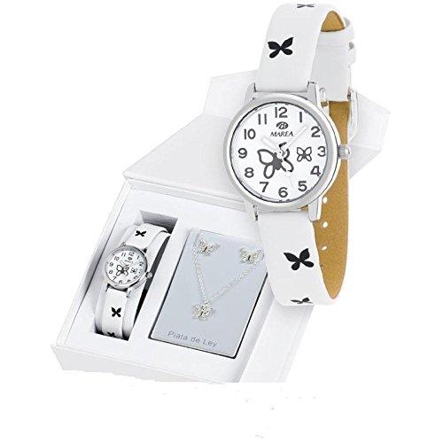Marea B21147/19 , Orologio per bambina, ideale come regalo per prima  comunione, colore bianco Amazon.it Orologi