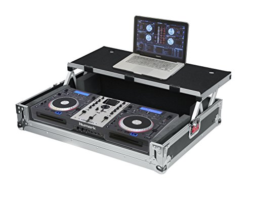 Ata Case Parts - Gator Cases G-TOUR Series ATA Style Road Case for Medium Sized DJ Controllers with Sliding Laptop Platform; (G-TOURDSPUNICNTLB)