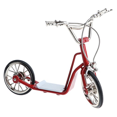 Homyl 1:10 Scale Alloy Scooter Bicycle Diecast Mountain Bike Model Toy Collectibles Red