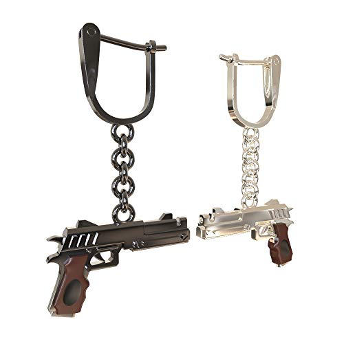 Dante Gun Model Eardrop - Devil May Cry 5 Ebony Black & Ivory White Revolver Gun Weapon Model Earring Accessories