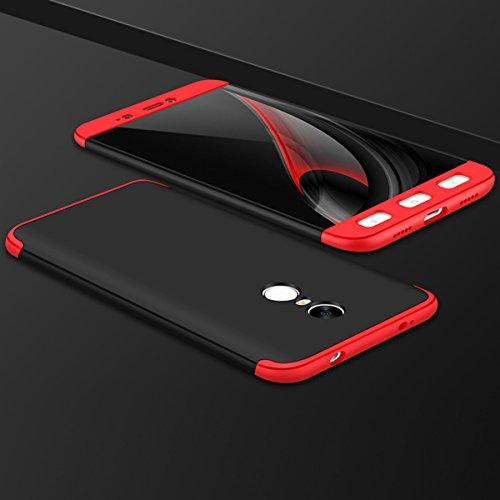 Xiaomi Redmi Note 4X Caso, Vandot de 360 Grados Alrededor de Todo el Cuerpo Completo de Protección Ultra Thin Slim Fit Cubierta de la Caja de Mate PC Absorción de impactos Shockproof para Xiaomi Redmi PC QBHD-5