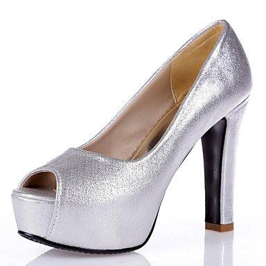 Talones de las mujeres Primavera Verano Otoño zapatos del club de boda sintético Fiesta y vestido de noche gruesos del talón de lentejuelas de plata azul del rosa de oro rosa Sliver