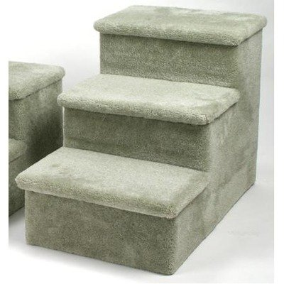 Heavy Duty Pet Stairs – Three Step Color: Sage Green, Hinged Steps: None, Wheels and Handle: No, My Pet Supplies
