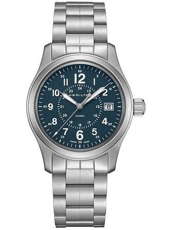 Hamilton Khaki Field Auto H70605143 Blue / Silver Stainless Steel Analog Automatic Men's Watch (Hamilton Khaki Field Automatic)