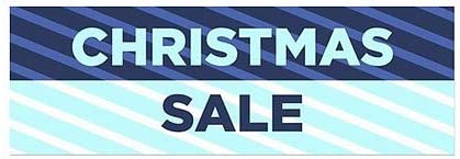 Christmas Sale 5-Pack 36x12 CGSignLab Stripes Blue Window Cling