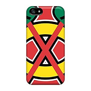 Durable Chicago Blackhawks Back Case For Iphone 5/5S Cover