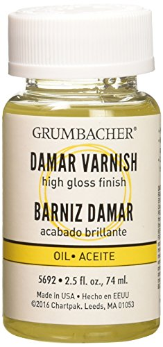 - Grumbacher Damar Final Varnish for Oil Paintings, 2-1/2 Oz. Jar, #5692