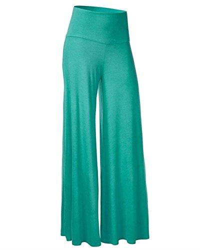 Pantaloni Autunno Grazioso Fashion Waist Tempo Hippie Baggy Aladin Palazzo Colori Libero Grün Moda Eleganti Sciolto Donna High Primaverile Solidi dzSwd