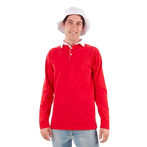 Men's Island Castaway Costume Shirt and Hat (X-Large) -