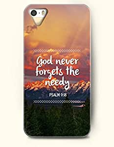 God Never Forgets The Needy Psalm 9:18 - Bible Verses - iPhone 5 / 5s Hard Back Plastic