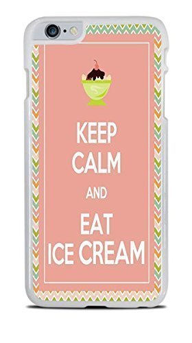 Keep Calm and Eat Ice Cream White Hardshell Case for iPhone 6+ (5.5)