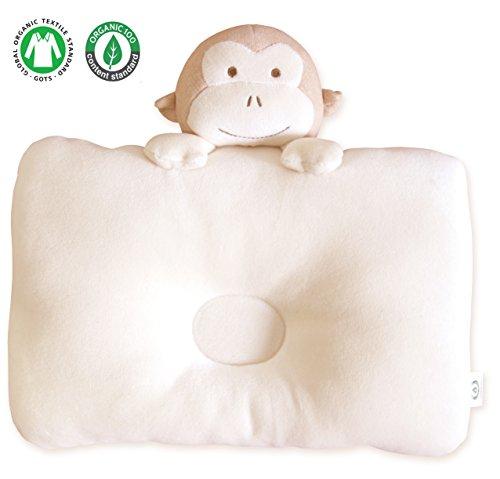 Organic Cotton Baby Protective Pillow - (Peekaboo Monkey)