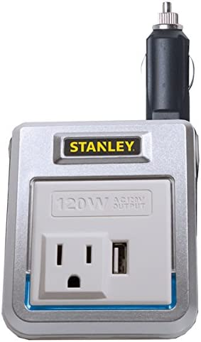 STANLEY FATMAX PCI140 140W Power Inverter 12V DC to 120V AC Power Outlet with