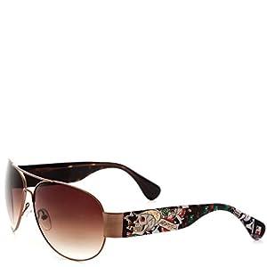 Ed Hardy The Gambler Zeke Sunglasses - Tortoise