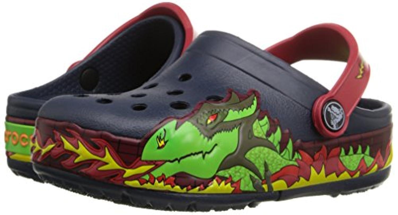 Crocs Lights Fire Dragon K Unisex Kids' Clogs - Blue (Navy), 3 UK (34-35 EU)