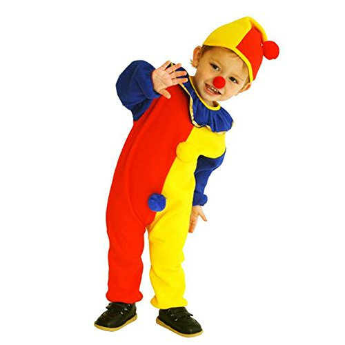 Jovi Elf Halloween Costume (DIMORRY Children Baby Clown Cosplay Costume Jumpsuits & Rompers+Hat+Nose Christmas Day Year Halloween Super Cheap Costume)