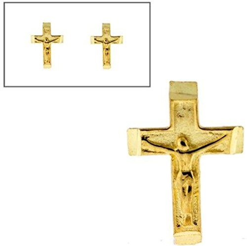 10KT Gold Small Crucifix Post Earrings by Styles By Breezy