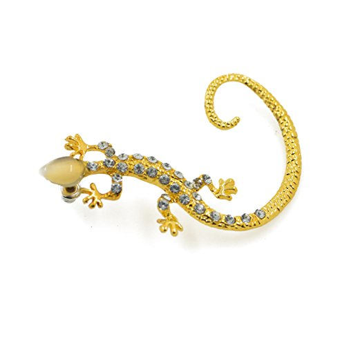 CHOP MALL 1PCS Crystal Rhinestone Alloy Lizard Gecko Ear Cuff ()