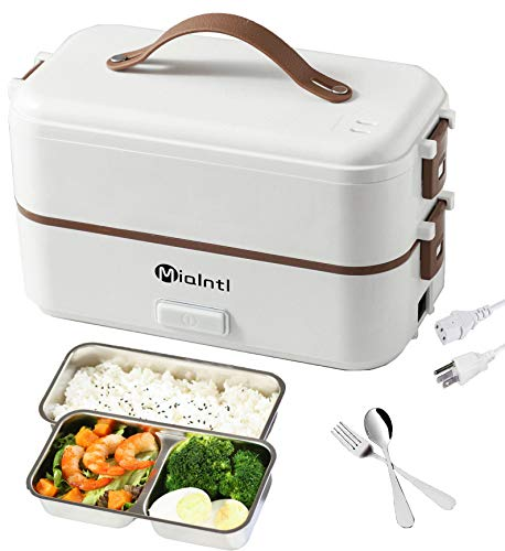 MIAINTL Electric Lunch Box Container – Food Heater Heatup For Adult Kids Lunch Warmer in Office/Home/Travel Rice Cooker…