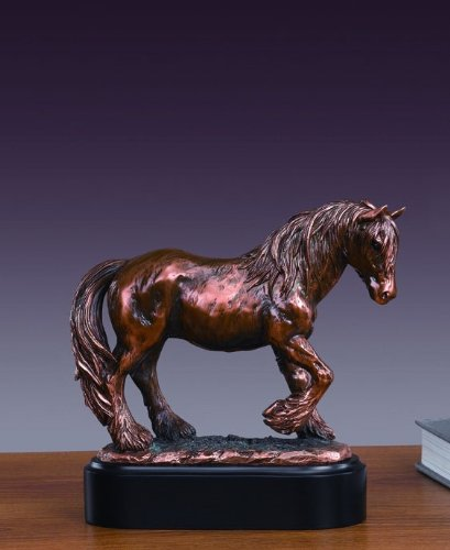 Treasure of Nature Meditation Tinker Mare Bronze Finish Statue with Base, 8 inches H