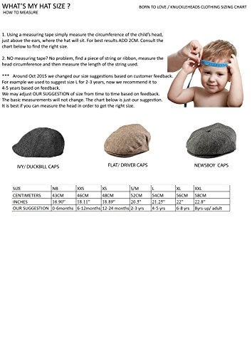 Born to Love Boy's Tan and Brown Newsboy Cap XS 48cm (12-24 months) by Born to Love (Image #1)