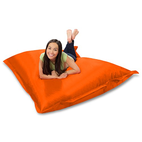 Huge Bean Bag Pillow for Playing Video Games & Watching TV, Orange