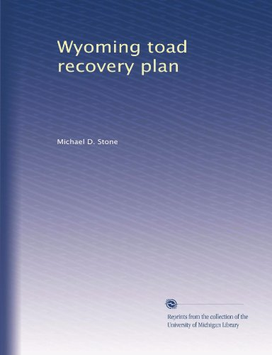 Wyoming toad recovery plan