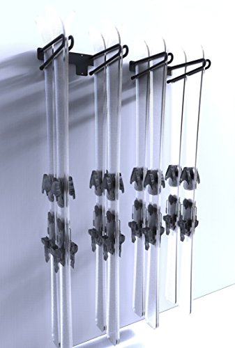 Ski Rack Cols 4 by Insilvis - Black Steel by Insilvis