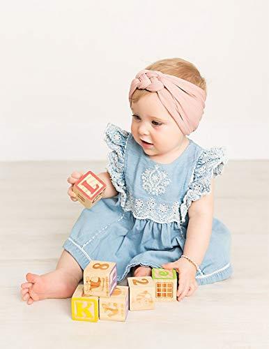 6-12 Pack Baby Girl Cute Headband Headwraps Elastic Bunny Ears Hair Band Holder
