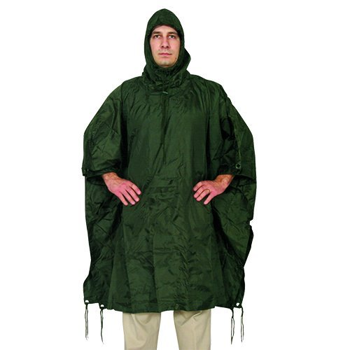 (Fox Outdoor Products Ripstop Poncho, Olive Drab)