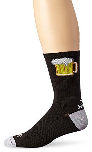 SockGuy Men's Tallboy Crew Sock, Black, Sock Size:10-13/Shoe Size: 6-12 from SockGuy